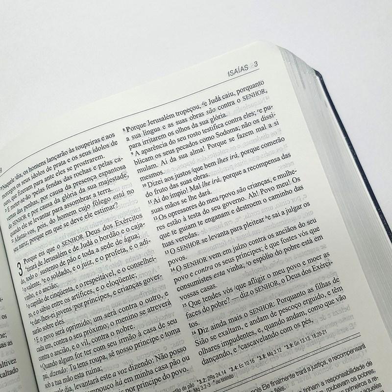 Bíblia de Estudo Aplicação Pessoal Média | Letra Normal ARC | Azul e Prata  - Universo Bíblico Rs