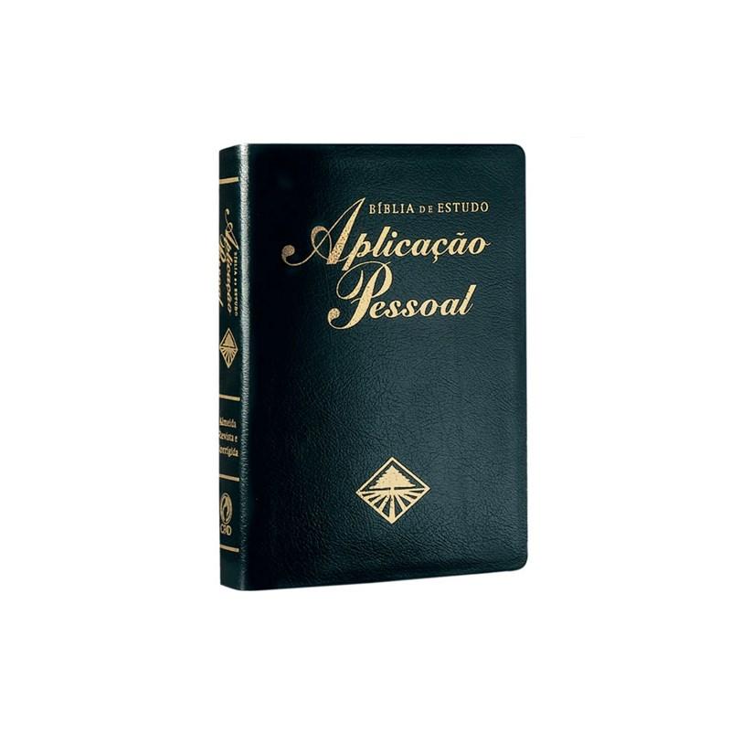 Bíblia de Estudo Aplicação Pessoal Média - Luxo - Preta - (ARC)  - Universo Bíblico Rs
