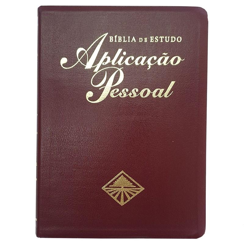 Bíblia de Estudo Aplicação Pessoal Média - Luxo - Vinho / (ARC)