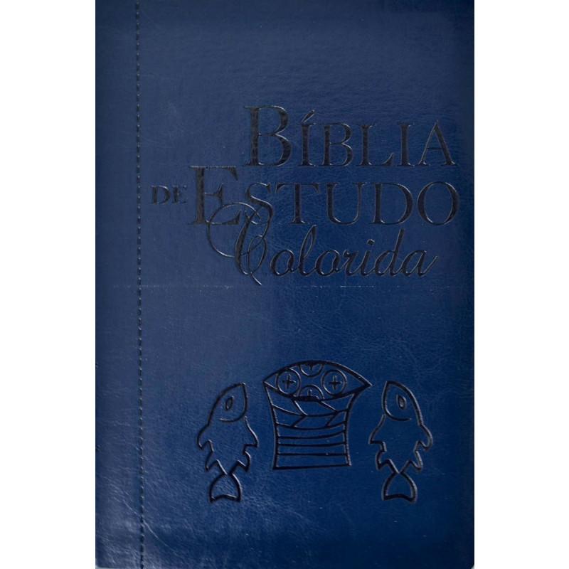 Bíblia de Estudo Colorida | Letra Grande  - Universo Bíblico Rs