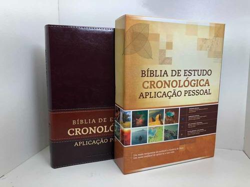 Bíblia de Estudo Cronológica Aplicação Pessoal Marrom  - Universo Bíblico Rs