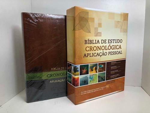 Bíblia de Estudo Cronológica Aplicação Pessoal Tarja Verde  - Universo Bíblico Rs