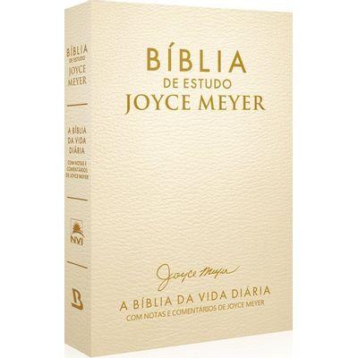 Bíblia De Estudo Joyce Meyer - Creme  - Universo Bíblico Rs