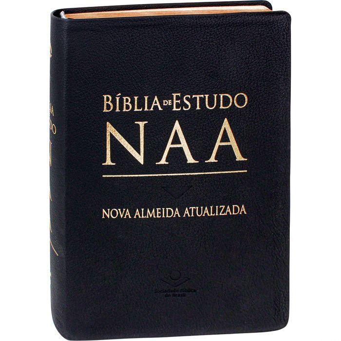 Bíblia de Estudo NAA - Couro Legítimo  - Universo Bíblico Rs