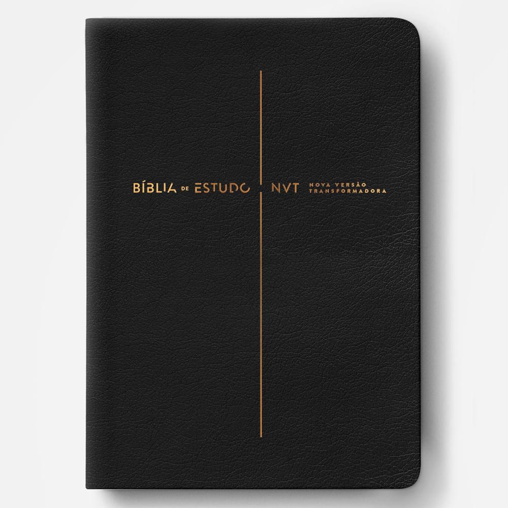 BÍBLIA DE ESTUDO NVT PRETA  - Universo Bíblico Rs