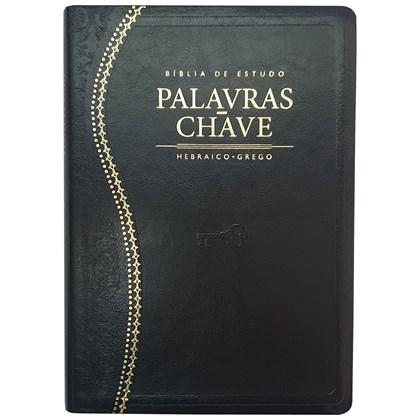 Bíblia de Estudo Palavras Chave | Letra Normal | ARC | Preto/Dourado  - Universo Bíblico Rs