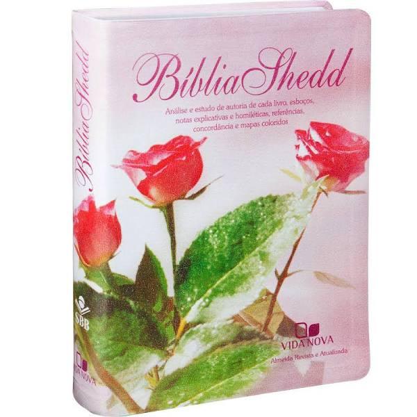 Bíblia de Estudo Shedd (capa feminina) - Vida Nova  - Universo Bíblico Rs