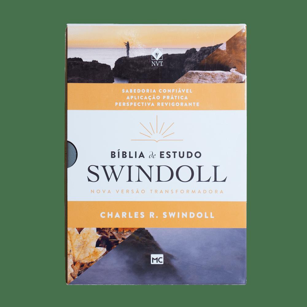 BÍBLIA DE ESTUDO SWINDOLL PETRA  - Universo Bíblico Rs