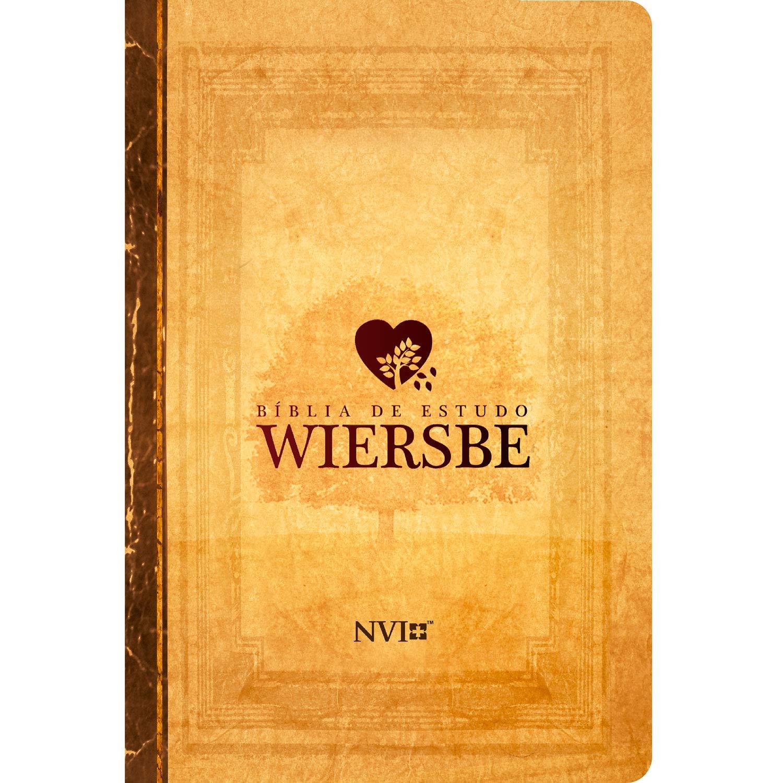 Bíblia de estudo Wiersbe - Luxo - NVI - Neutra  - Universo Bíblico Rs