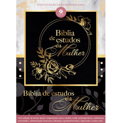 Bíblia de Estudos da Mulher  Preta  - Universo Bíblico Rs