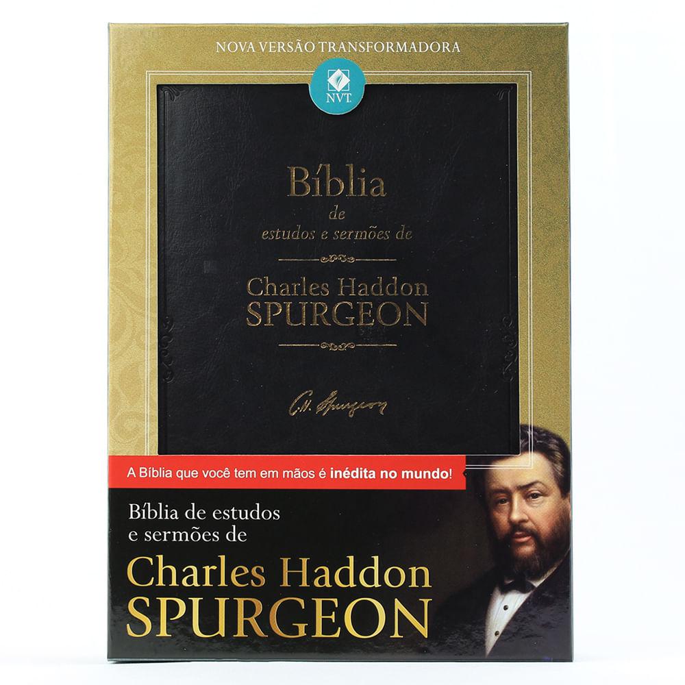 BÍBLIA DE ESTUDOS E SERMÕES DE CHARLES HADDON SPURGEON  - Universo Bíblico Rs