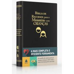 Bíblia de recursos para o ministério com crianças - Luxo PU preta  - Universo Bíblico Rs