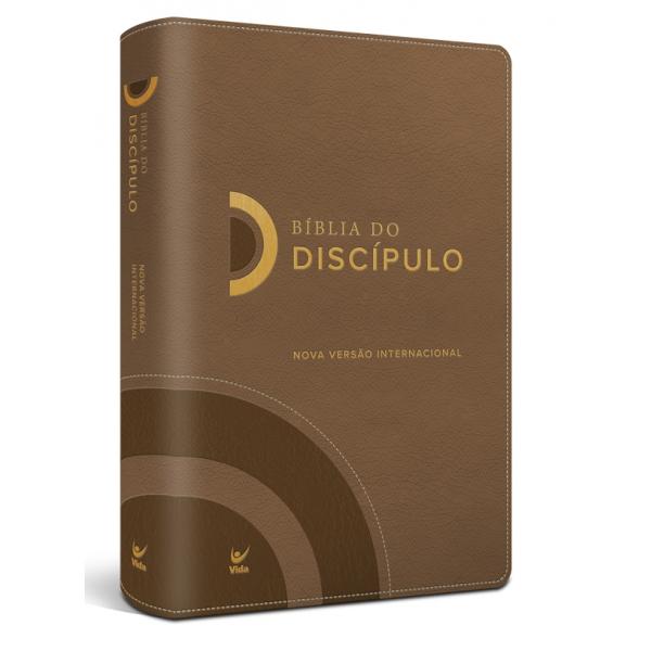Bíblia do Discípulo NVI Luxo  capa marrom  - Universo Bíblico Rs