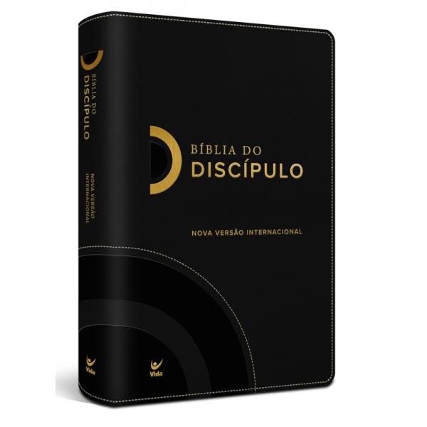 Bíblia do Discípulo NVI Luxo  capa preta  - Universo Bíblico Rs