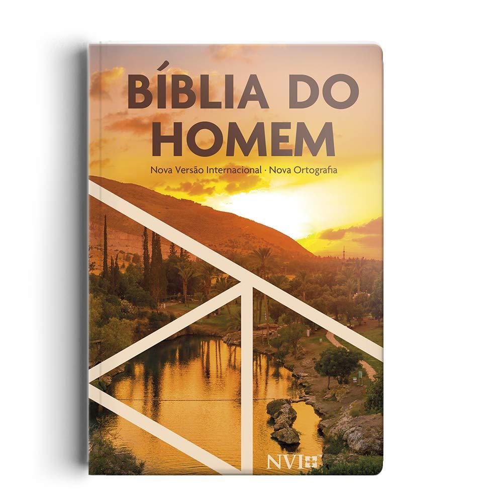 Bíblia do homem NVI - Capa semi luxo pôr do sol  - Universo Bíblico Rs