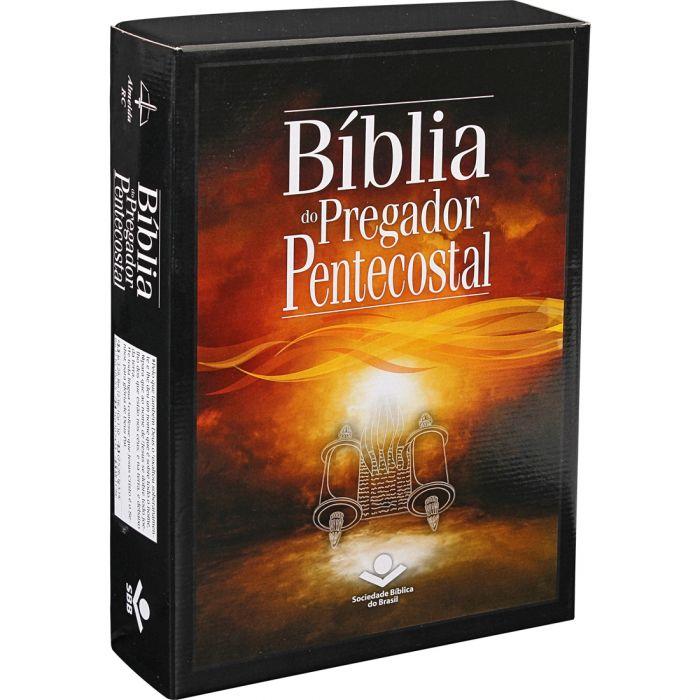 Bíblia Do Pregador Pentecostal / Preta - (ARC)  - Universo Bíblico Rs