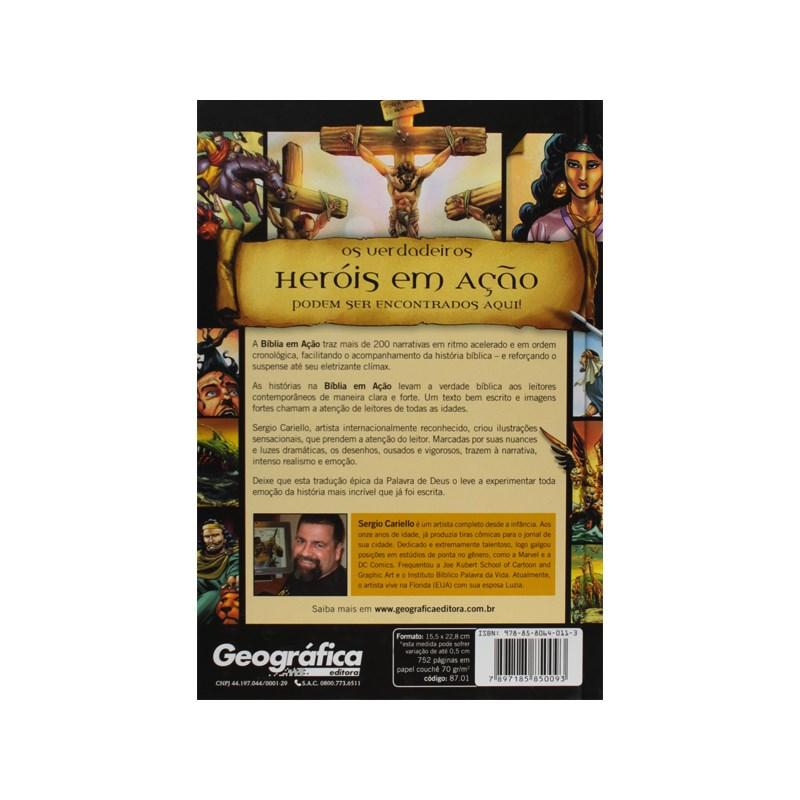 Bíblia em ação - Capa dura impressa única  - Universo Bíblico Rs