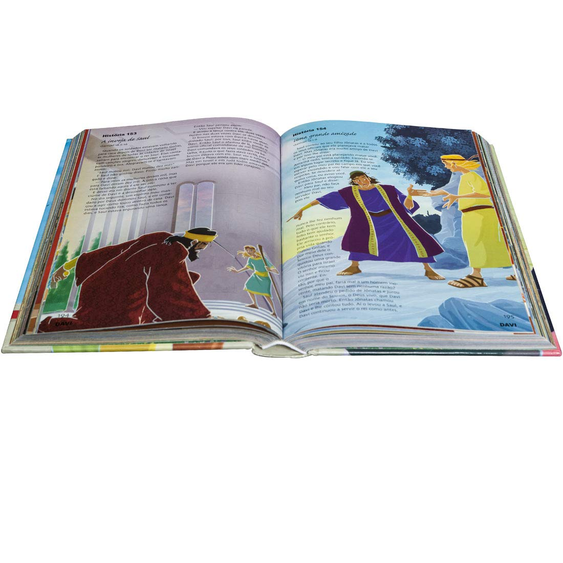 Bíblia Ilustrada  365 Histórias Selecionadas: Nova Tradução na Linguagem de Hoje (NTLH)  - Universo Bíblico Rs