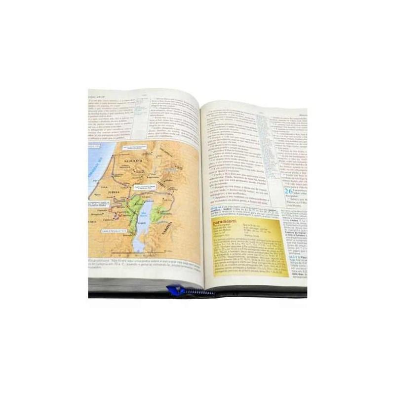Bíblia King James 1611 de Estudo Holman - Marrom com Preta  - Universo Bíblico Rs