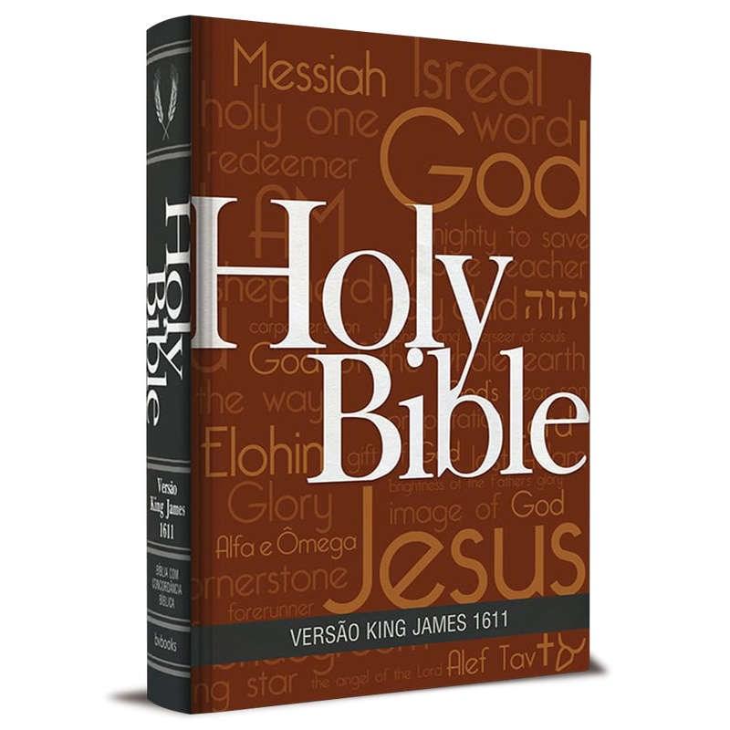 Bíblia King James Fiel 1611   BKJ   Letra Normal   Capa Holy Bible Concordância e Pilcrows  - Universo Bíblico Rs
