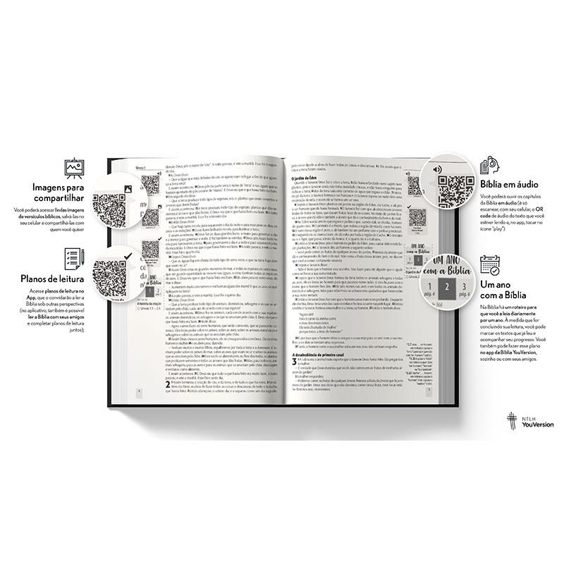 Bíblia Leão Gelo YouVersion | NTLH | Letra Normal | Capa Soft-Touch  - Universo Bíblico Rs