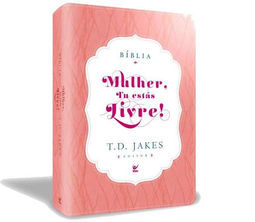 Bíblia Mulher, Tu estás livre  capa luxo rosa e branco / C. índice  - Universo Bíblico Rs