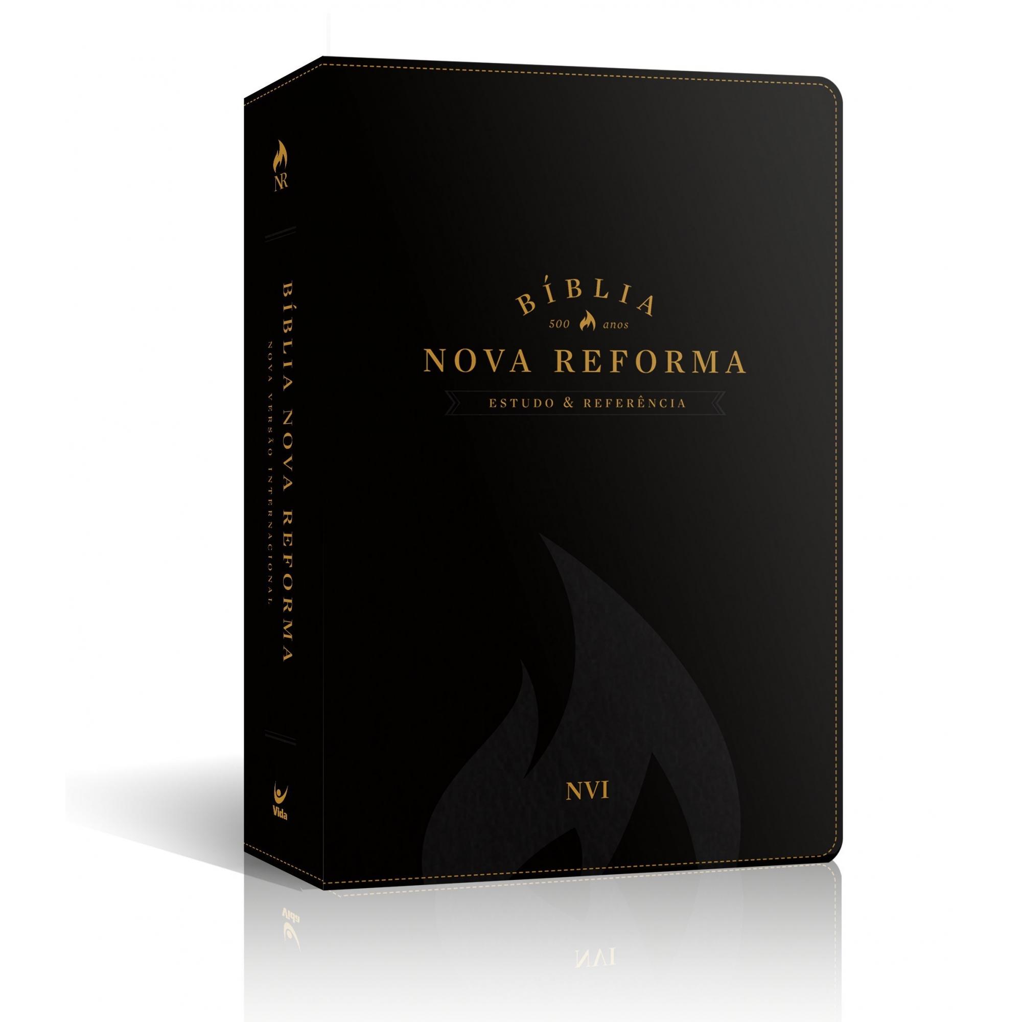 Biblia Nova Reforma. NVI - Capa de Luxo Preta  - Universo Bíblico Rs