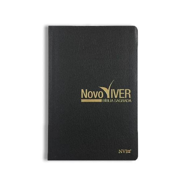 Bíblia Novo Viver   NVI   Letra Normal   Capa Semi-Luxo Preta
