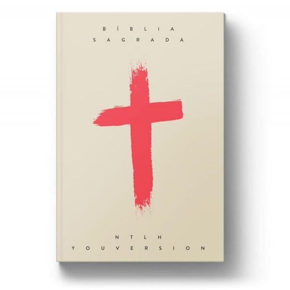 Bíblia NTLH YouVersion Cruz Coral  - Universo Bíblico Rs