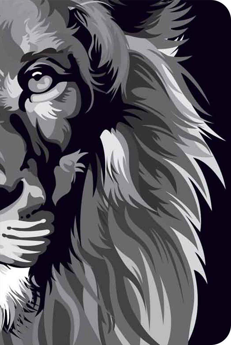 Bíblia NVT 960 Lion Lion Colors Black & White - Letra Normal: Nova Versão Transformadora  - Universo Bíblico Rs