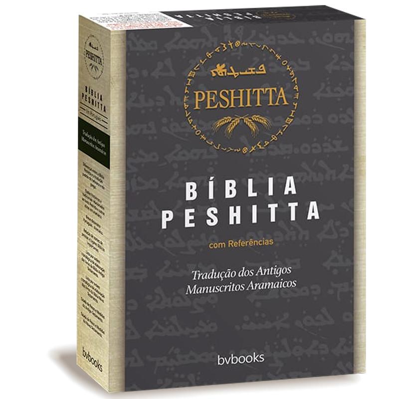 Bíblia Peshitta Com Referências | Luxo Preto e Marrom  - Universo Bíblico Rs