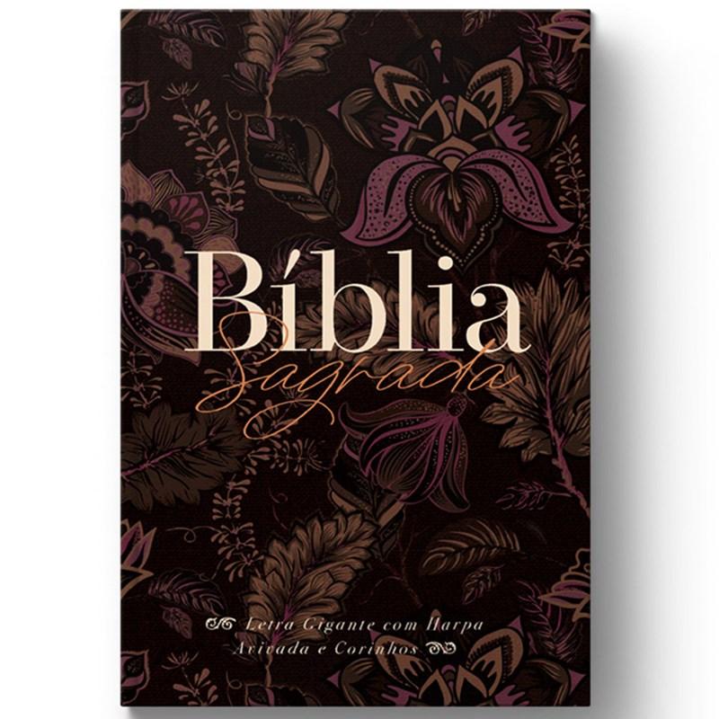 Bíblia Sagrada com Harpa Avivada e Corinhos Perfume de Cristo   ARC   Letra Gigante   Capa Dura