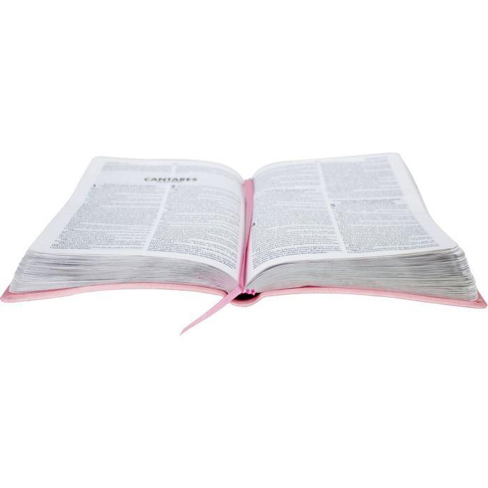 Bíblia Sagrada com Harpa Cristã / Rosa Claro - (ARC)  - Universo Bíblico Rs