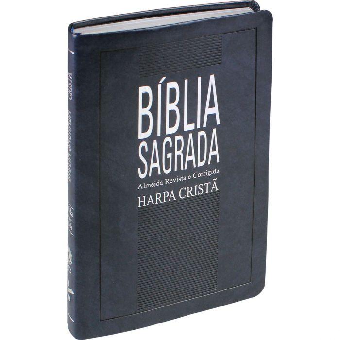 Bíblia Sagrada com Harpa Cristã / Azul Nobre - (ARC)  - Universo Bíblico Rs