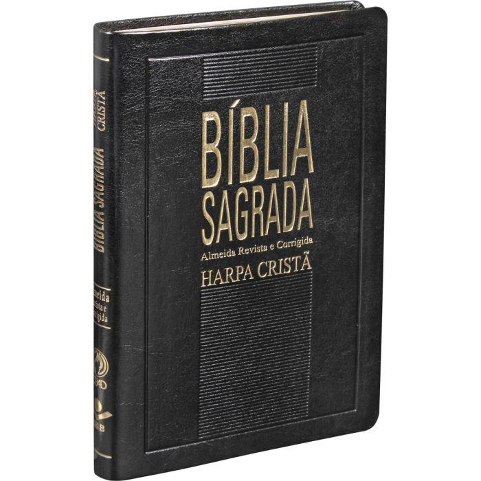 Bíblia Sagrada com Harpa Cristã / Preto - (ARC)  - Universo Bíblico Rs