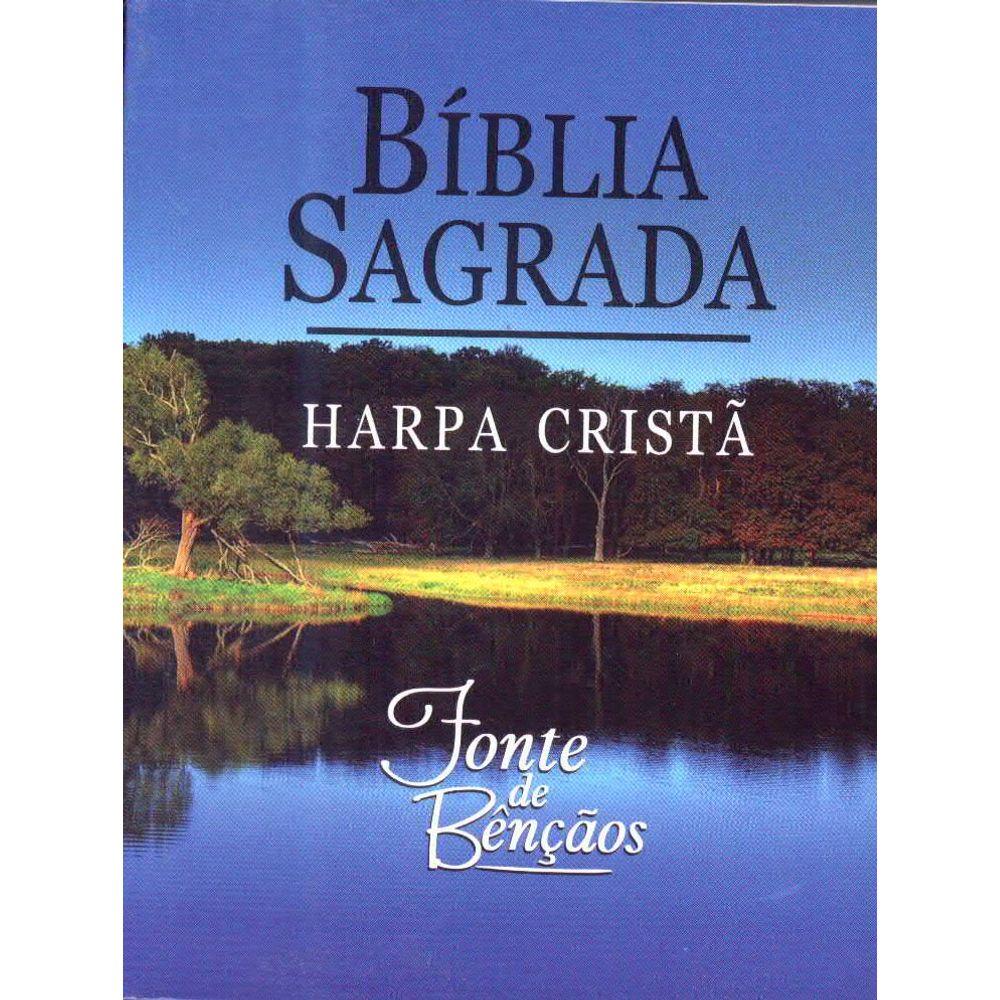 Bíblia Sagrada Fonte de Bênçãos com Harpa Cristã  - Universo Bíblico Rs