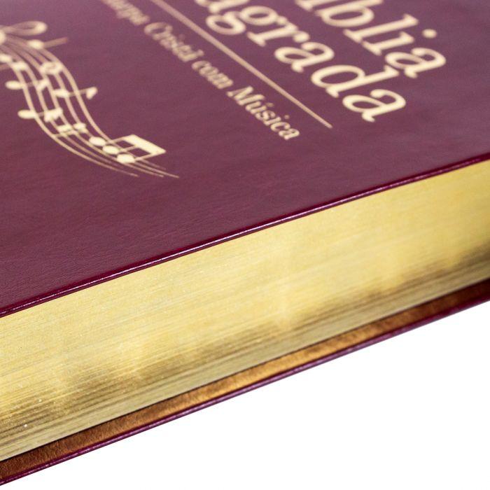 Bíblia Sagrada Harpa Cristã com Música / Vinho- (ARC)  - Universo Bíblico Rs