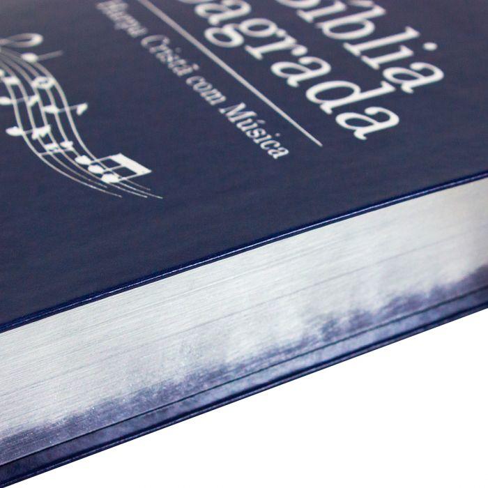 Bíblia Sagrada Harpa Cristã com Música / Azul - (ARC)  - Universo Bíblico Rs