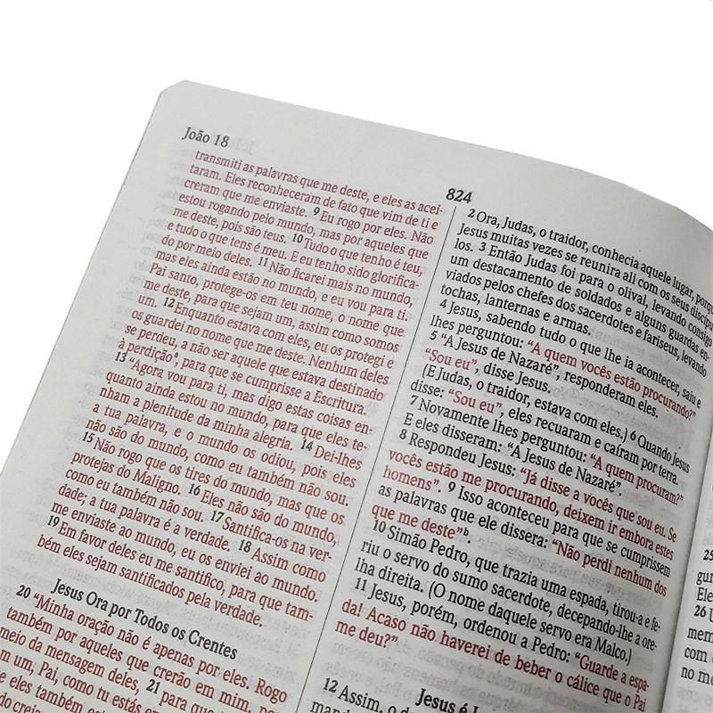 Biblia Sagrada Jesus te Ama   NVI   Letra Normal   Capa Dura Soft-Touch  - Universo Bíblico Rs