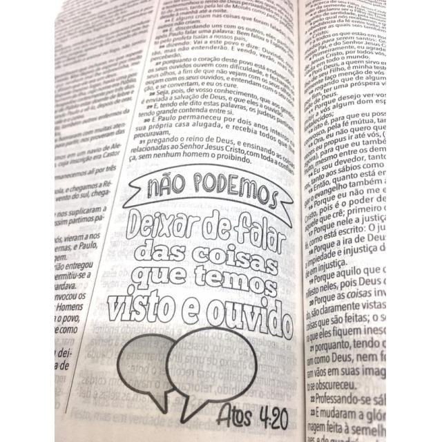 Bíblia Sagrada King James 1611 Lettering Bible Capa Jovem Universo  - Universo Bíblico Rs