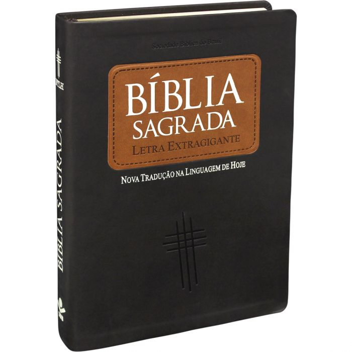 Bíblia Sagrada Letra Extragigante / Marrom - (NTLH)