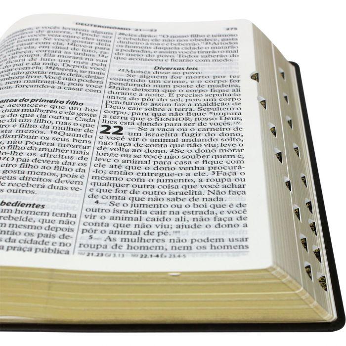 Bíblia Sagrada Letra Extragigante / Marrom - (NTLH)  - Universo Bíblico Rs