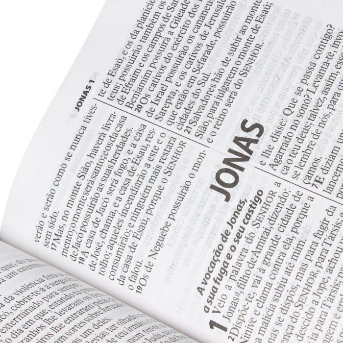 Bíblia Sagrada Letra Gigante / Azul e Cinza - (ARA)  - Universo Bíblico Rs