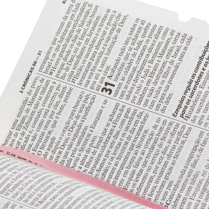 Bíblia Sagrada Letra Gigante / Rosa Claro - (ARA)  - Universo Bíblico Rs
