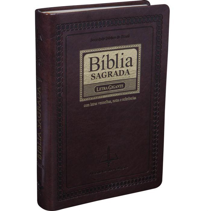 Bíblia Sagrada Letra Gigante / Marrom - (ARC)