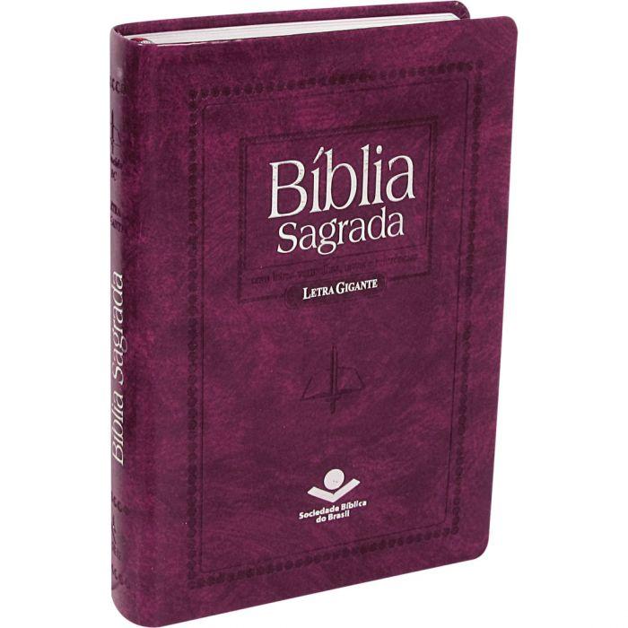 Bíblia Sagrada Letra Gigante / Pink  - (ARC)  - Universo Bíblico Rs