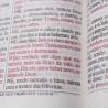 Bíblia Sagrada Letra Gigante, Edição com Letras Vermelhas com Harpa Cristã / Rosa - (ARC)  - Universo Bíblico Rs