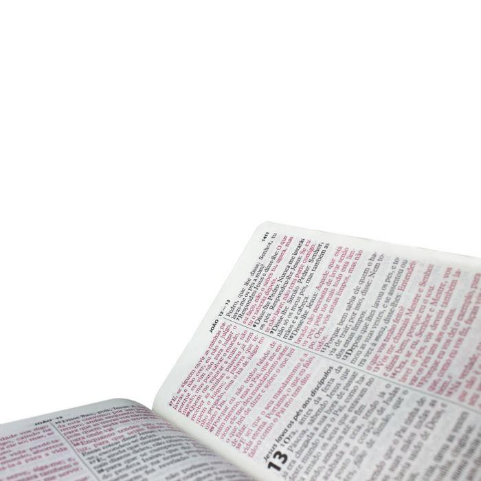 Bíblia Sagrada Letra Gigante, Edição com Letras Vermelhas e Harpa Cristã / Marrom - (ARC)  - Universo Bíblico Rs
