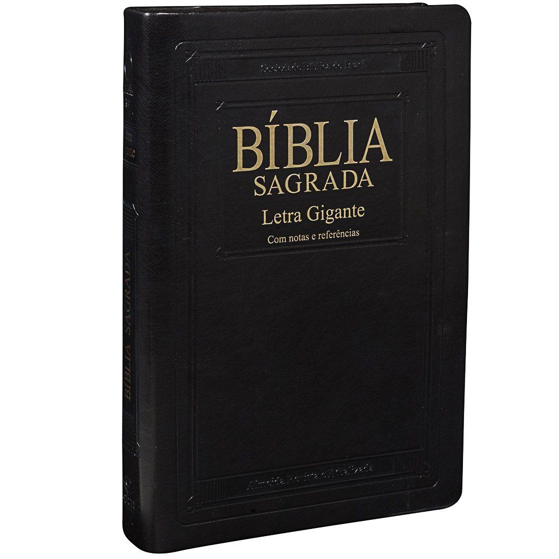 Bíblia Sagrada Letra Gigante / Preto - (ARA)  - Universo Bíblico Rs