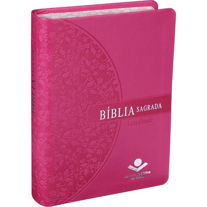 Bíblia Sagrada Letra Grande / Pink - (ARA)  - Universo Bíblico Rs